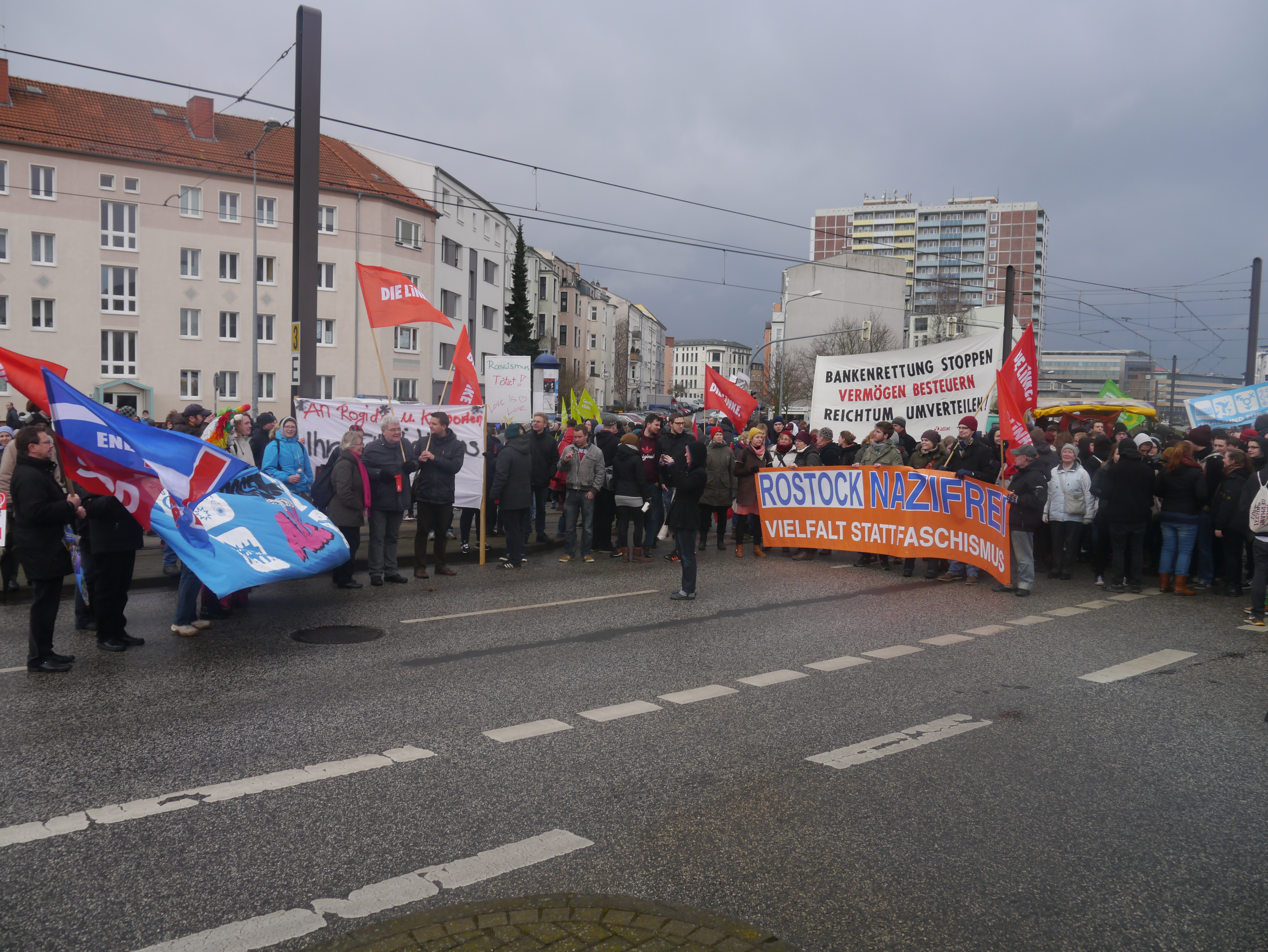 Blockade auf dem Goetheplatz