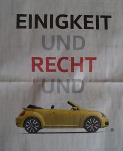 Wer braucht schon Freiheit, wenn er VW fahren kann.