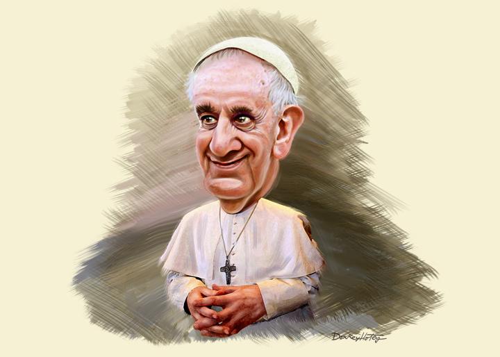 Papst_Franziskus_Zeichnung