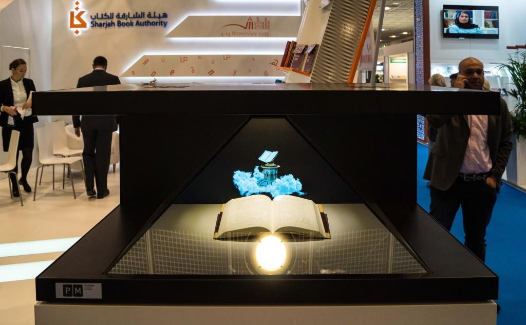 Stand der VAE: Das blaue Hologramm baut sich alle 30 Sekunden neu auf.